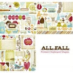 Fancy Pants Designs - All Fall Collection - Self Adhesive Chipboard Shapes, CLEARANCE