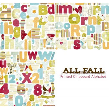 Fancy Pants Designs - All Fall Collection - Self Adhesive Chipboard Alphabets, CLEARANCE