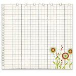 Fancy Pants Designs - The Daily Grind Collection - 12 x 12 Transparency - Floral Ledger