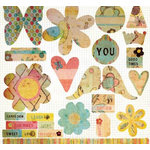 Fancy Pants Designs - Sweet Spring Collection - Die Cut Titles and Tags - Sweet Spring
