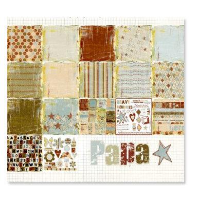 Fancy Pants Designs - Papa Collection - 12 x 12 Paper Kit