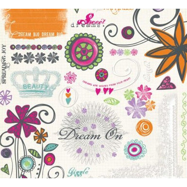 Fancy Pants Designs - Daydream Collection - Rub Ons - Daydream