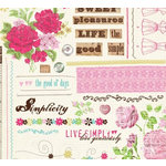 Fancy Pants Designs - Simplicity Collection - Rub Ons - Simplicity