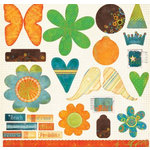 Fancy Pants Designs - About A Boy Collection - Die Cut Titles and Tags - About A Boy, CLEARANCE