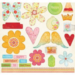 Fancy Pants Designs - Celebrate Collection - Die Cut Titles and Tags - Celebrate, CLEARANCE