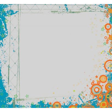 Fancy Pants Designs - About A Boy Collection - 12x12 Printed Transparent Overlays - Fresh and Funky, CLEARANCE