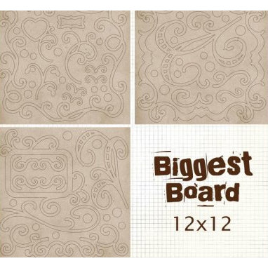 Fancy Pants Designs - Biggest Board Chipboard - 12x12 - Fancy Flourishes Too, CLEARANCE
