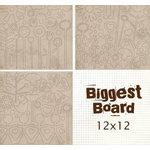 Fancy Pants Designs - Biggest Board Chipboard - 12x12 - Power Flowerz, CLEARANCE