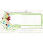 Fancy Pants Designs - Glitter Cuts Transparencies - Green Frame