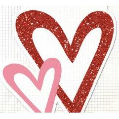 Fancy Pants Designs - Glitter Cuts Transparencies - Hearts