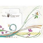 Fancy Pants Designs - Glitter Cuts Transparencies - Floral Swoosh