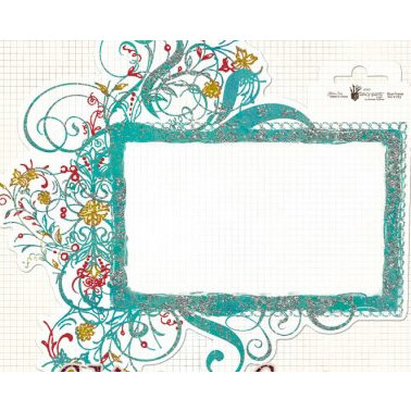 Fancy Pants Designs - Glitter Cuts Transparencies - Blue Frame