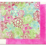 Fancy Pants Designs - Holly Jolly Collection - Christmas - 12x12 Double Sided Paper - Snowflake