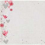 Fancy Pants Designs - 12x12 Printed Transparent Overlays - Valentine's Day - My Valentine, CLEARANCE