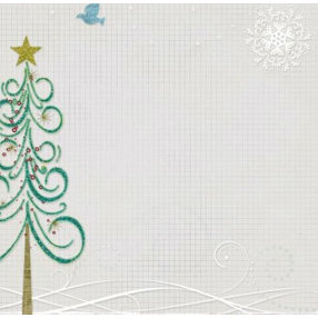 Fancy Pants Designs - 12x12 Printed Transparent Overlays - Christmas - Oh Christmas Tree