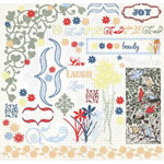 Fancy Pants Designs - Rub Ons - Flower Garden, CLEARANCE