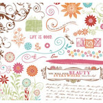 Fancy Pants Designs - Botanical Collection - Rub Ons