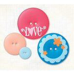 Fancy Pants Designs - Fashion Sense Collection - Buttons - Sassy, CLEARANCE
