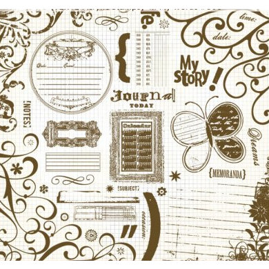 Fancy Pants Designs - 12x12 Acrylic Stamps - In My Words, CLEARANCE