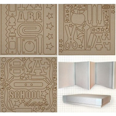 Fancy Pants Designs - 8x8 Chipboard Box Set - School Days, CLEARANCE