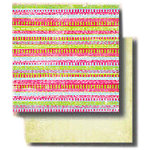 Fancy Pants Designs - 12x12 Double Sided Paper - Key Lime Pie Collection - Desert, CLEARANCE
