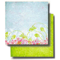 Fancy Pants Designs - 12x12 Double Sided Paper - Key Lime Pie Collection - Charming, CLEARANCE