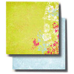 Fancy Pants Designs - 12x12 Double Sided Paper - Key Lime Pie Collection - Dainty, CLEARANCE