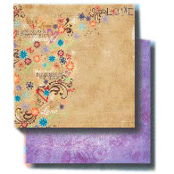 Fancy Pants Designs - 12x12 Double Sided Paper - Floral Chic - Hearthrob, CLEARANCE