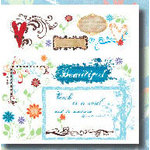 Fancy Pants Designs - Rub-Ons - Fancy Floral Chic