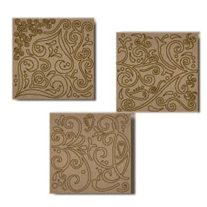 Fancy Pants Designs - Biggest Board Chipboard - 12x12 - Soho Swirls