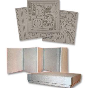 Fancy Pants Designs - 8x8 Chipboard Box Set - All Boy, CLEARANCE