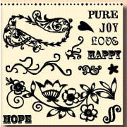 Fancy Pants Designs - 6x6 Acrylic Stamps - Simply Stated, CLEARANCE