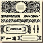 Fancy Pants Designs - 6x6 Acrylic Stamps - Journals A la Mode, CLEARANCE