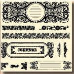 Fancy Pants Designs - 6x6 Acrylic Stamps - Journals A la Mode, CLEARANCE