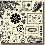 Fancy Pants Designs - 12x12 Acrylic Stamps - Pollen Dust