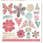 Fancy Pants Designs - Mulberry Road Collection - Line Titles and Tags, CLEARANCE