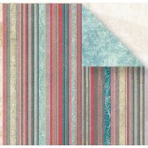Fancy Pants Designs - Mulberry Road Collection - Doublesided Paper - Amherst Stripe, CLEARANCE