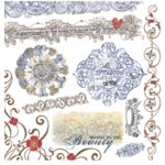 Fancy Pants Designs - Mulberry Road Collection - Rub Ons - Elegance