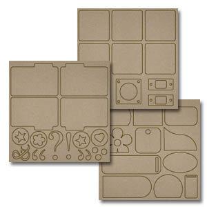Fancy Pants Designs - Biggest Board Chipboard - Book It, CLEARANCE