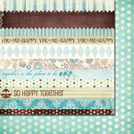 Fancy Pants Designs - Happy Together Collection - 12 x 12 Double Sided Paper - Strips