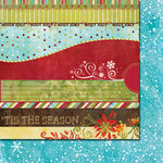 Fancy Pants Designs - Tradition Collection - Christmas - 12 x 12 Double Sided Paper - Strips, CLEARANCE