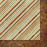 Fancy Pants Designs - Tradition Collection - Christmas - 12 x 12 Double Sided Paper - Stripe-n-Scallop
