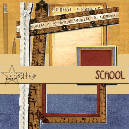 E-Kit Elements (Digital Scrapbooking) - School 3