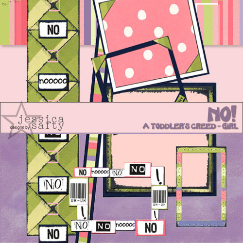 E-Kit Elements (Digital Scrapbooking) - No! A Toddlers Creed: Girl 3