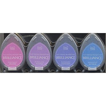 Tsukineko - Dew Drop Brilliance Fast Drying Pigment Ink - Jewel Colors Set