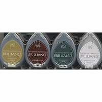Tsukineko - Dew Drop Brilliance Fast Drying Pigment Ink - Earth Tone Colors Set