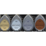 Tsukineko - Dew Drop Brilliance Fast Drying Pigment Ink - Planetarium Metallic Colors Set