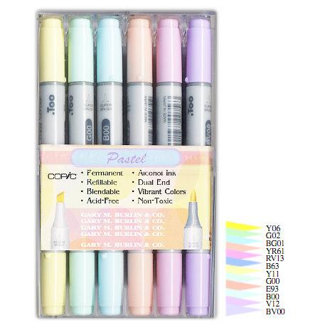 Copic - Ciao Marker Set - Pastel - 12 Piece Set