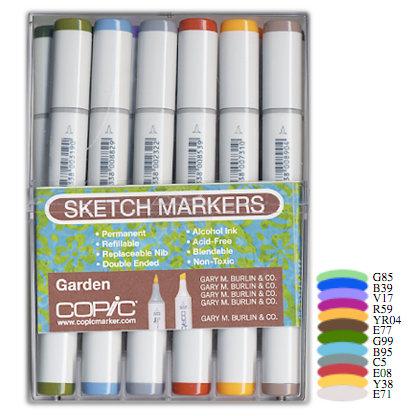 Copic - Sketch Marker Set - Garden - 12 Piece Set