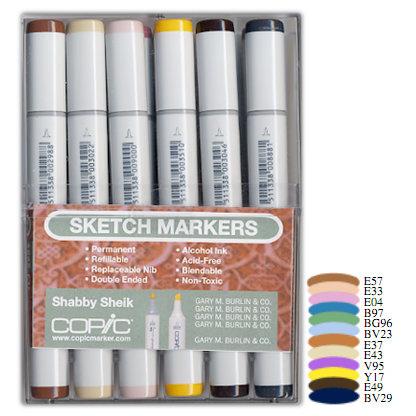 Copic - Sketch Marker Set - Shabby Sheik - 12 Piece Set